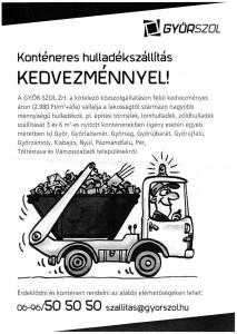 konténeres hulladék szállítás