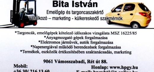 Bita István emelőgép és targonca szakértő