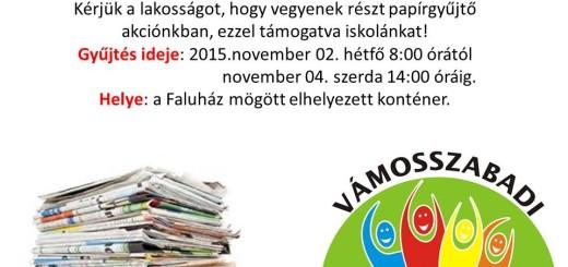 ÚJSÁGOT AZ ISKOLÁÉRT '15.11