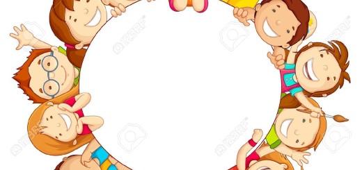 18028374-Kids-around-Circle-Stock-Vector-circle-kindergarten-friendship