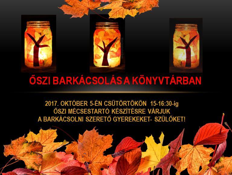 őszi barkácsplakát