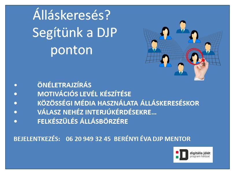 DJP állás plakát