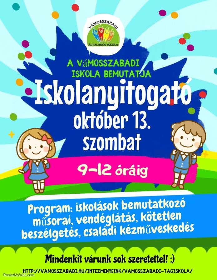 plakát iskola