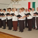Borostyán nyugdíjas klub tagjai énekelnek
