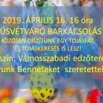 húsvéti barkácsplakát 2019