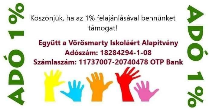Adó 1 %-Együtt a Vörösmarty Iskoláért Alapítvány