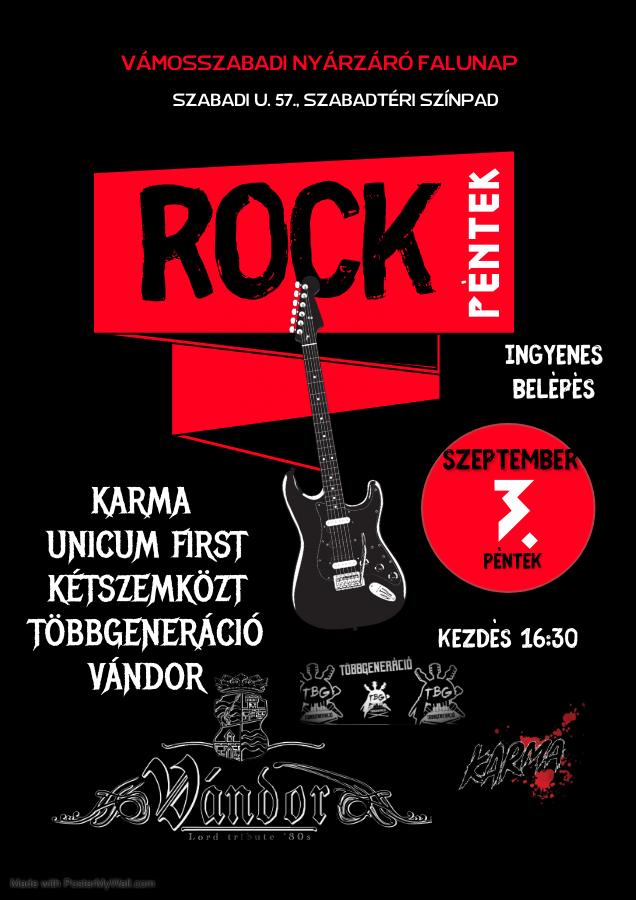 Rockpéntek programja